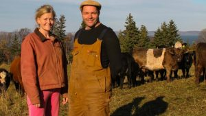 lance and kathleen and cows